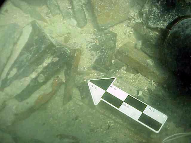Stacks of French terrocatta floor times as they are uncovered on The Tile Wreck