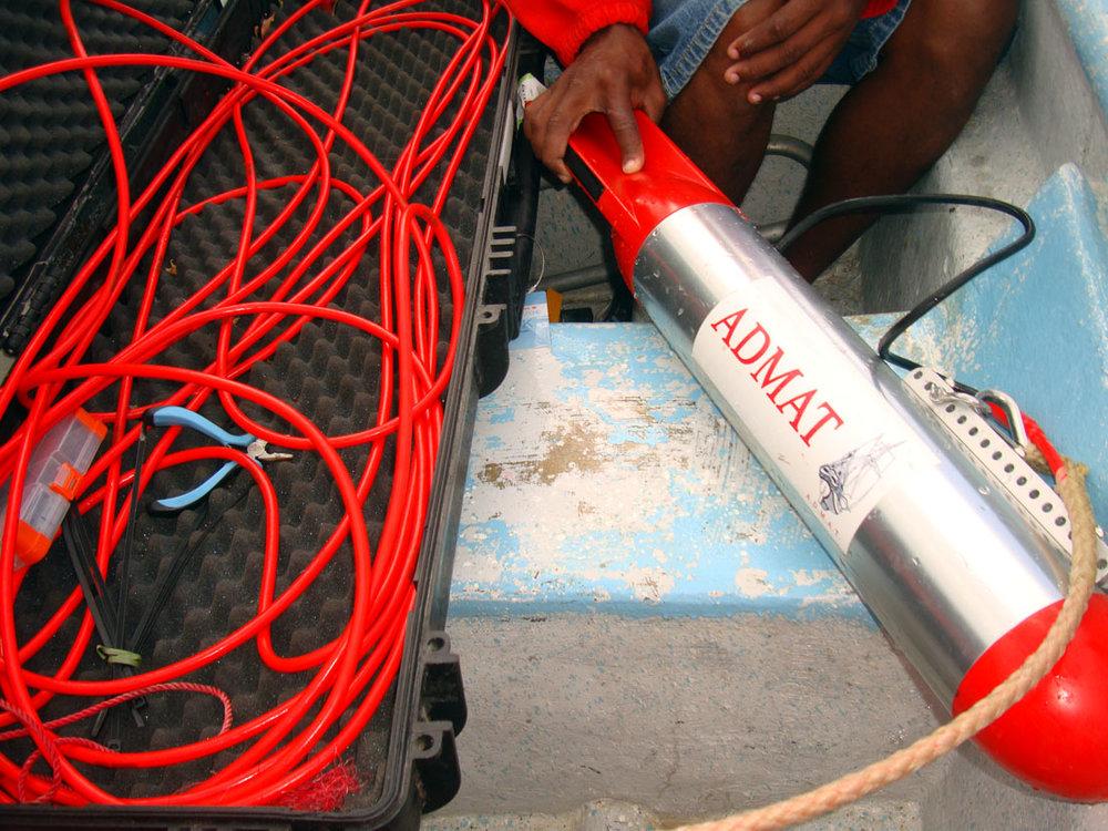 ADMAT's Imagenex side scan sonar
