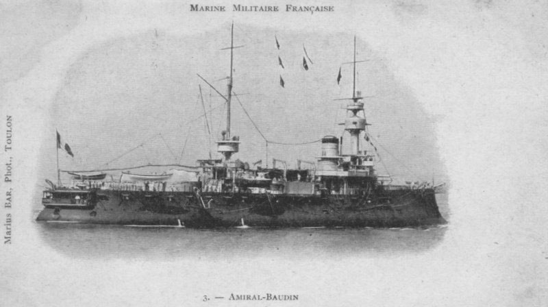 Photograph of the French battleship   Admiral Baudin