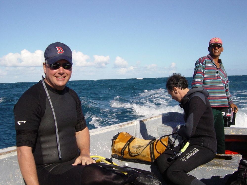 Smiling Patrick Enlow and Dr. Francois Gendron on the way home