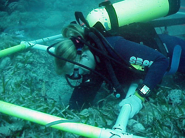 Maritime Archaeologist Christine Nielsen working in SQ Y0