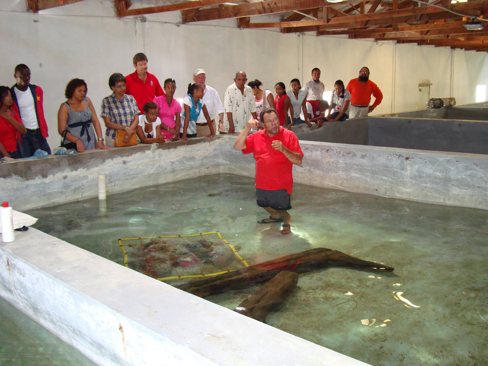 John explaining the artefacts at ADMAT's Maritime Archaeological Conference in Monte Cristi in 2009