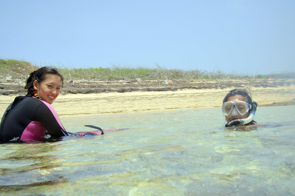 Dr. Chow and May Loo relaxing on   The Island Wreck   island
