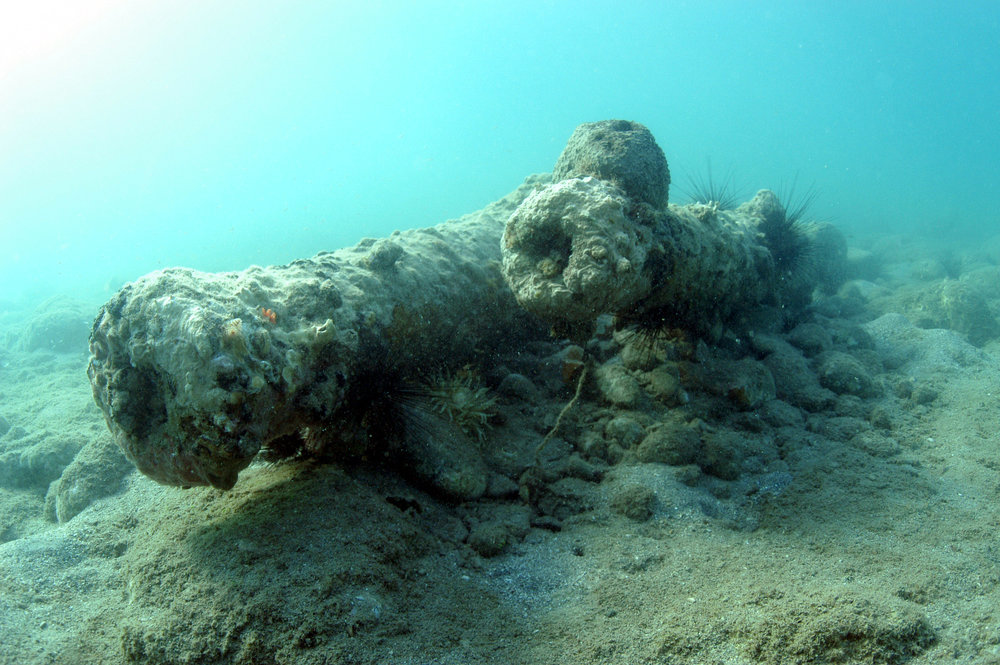 Help Protect Our Underwater Cultural Heritage   Take Part Now!    Join our Projects      White House Bay Wreck - Battle of Frigate Bay 1782,  St. Kitts. Surveyed 2003.