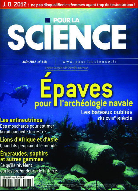 The front cover of the Pour La Science publication containing the article on Le Dragon.