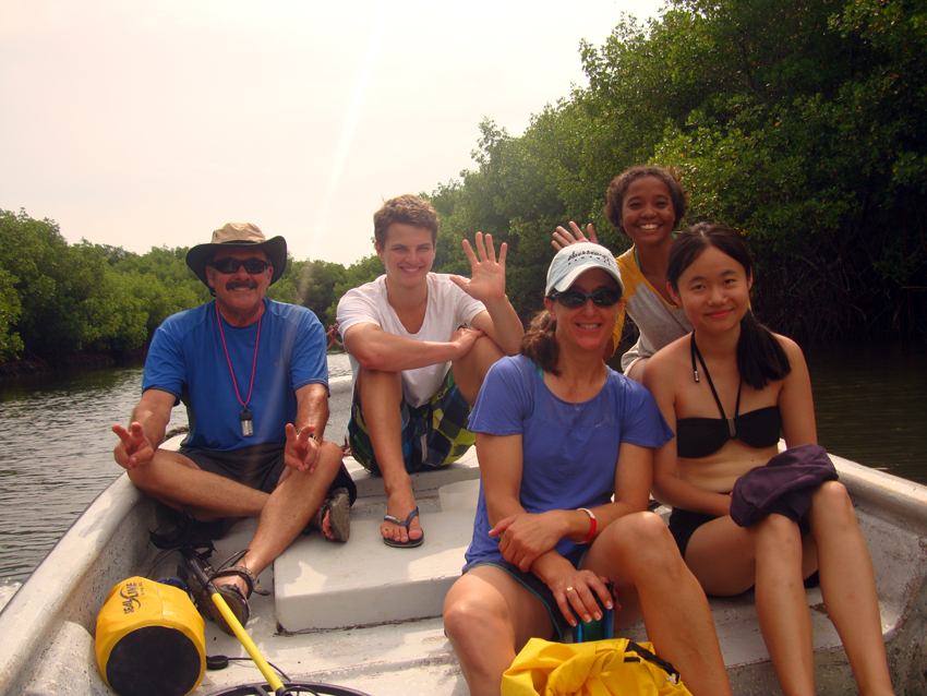 John and his international team of student maritime archaeologists, as they travel through the mangroves to   The Tile Wreck