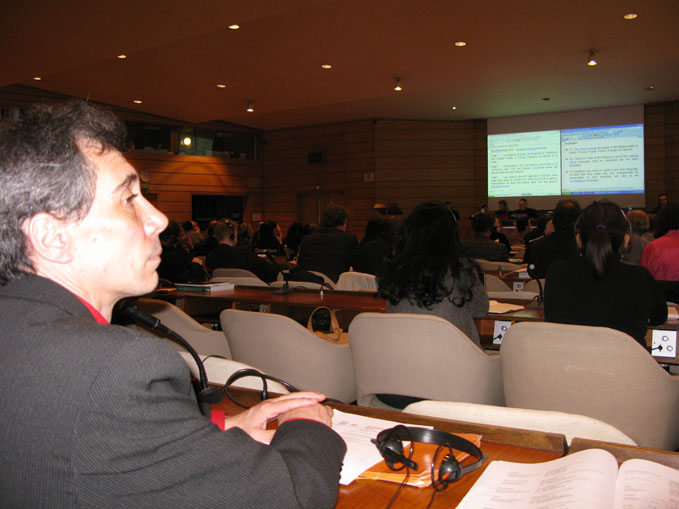 Dr Francois Gendron at UNESCO UCH conference in Paris