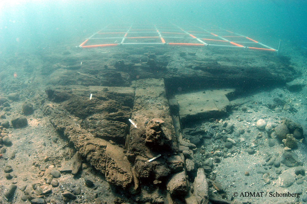 The bow section which was uncovered during ADMAT's maritime archaeological survey of the White House Bay Wreck, an English troopship lost in the Battle of Frigate Bay in 1782 in St. Kitts