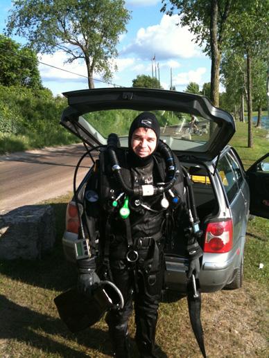 Bryan Thomas, No: 1 Tech Diver in Toronto, Canada.