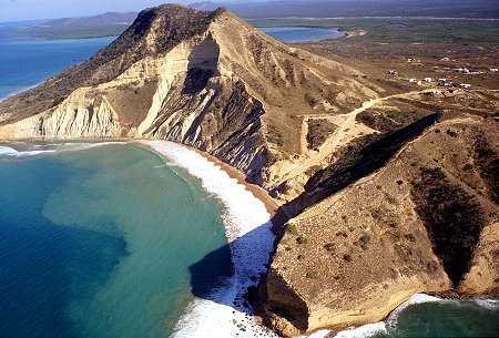 The famous El Morro mountain which dominates Monte Cristi in the Dominican Republic.