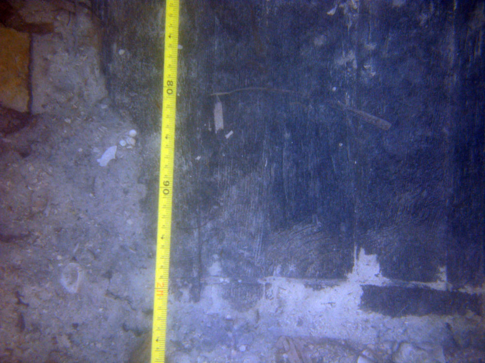 The wood grain of the wooden staves is clearly seen, in excellent condition for being blown up and underwater since 1783