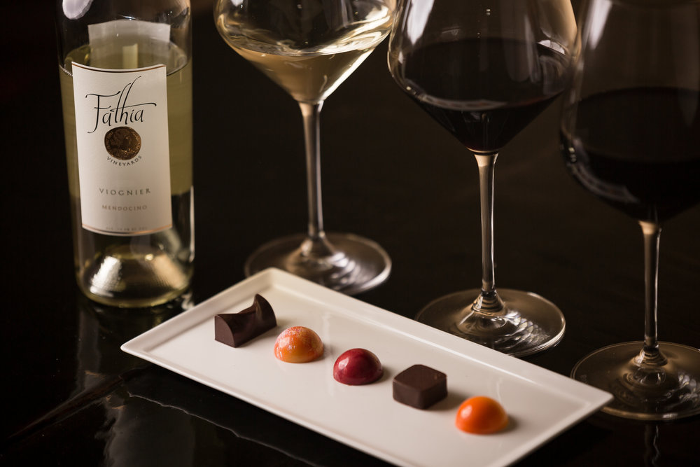 Truffles & Wine Pairing - Enjoy a tasting of a selection of our current release wines paired with a variety of FEVE chocolate truffles.$35 per person/ complimentary for Wine Club members (2 guests total)