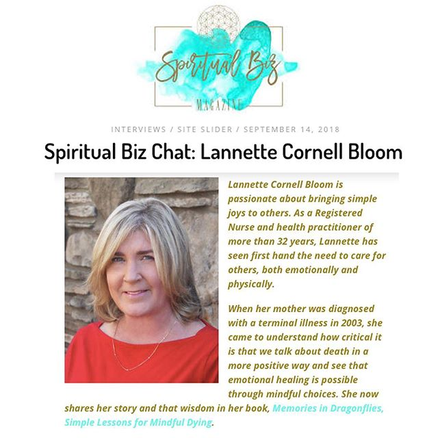 Thank you Spiritual Biz Magazine for the lovely feature! You can find a link to the full interview on SimpleJoys.com 💫 . . . #simplejoys #joyissimple #memoriesindragonflies #interview #chat #spiritualbiz #joy #linkinbio