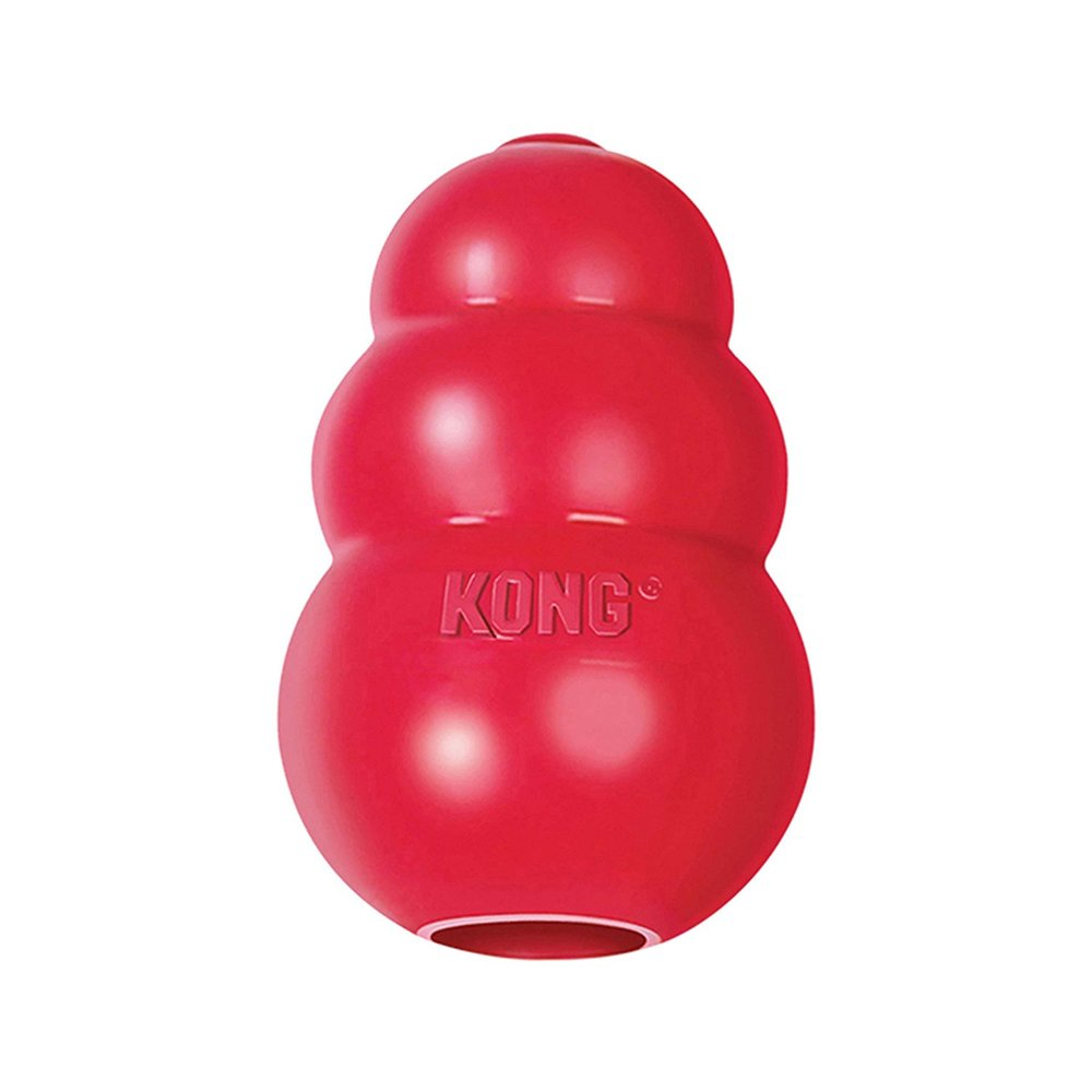 Kong Classic Dog Toy - Classic option for keeping your dog mentally stimulated while enjoying a tasty meal, providing positive association for new environments and crate training.