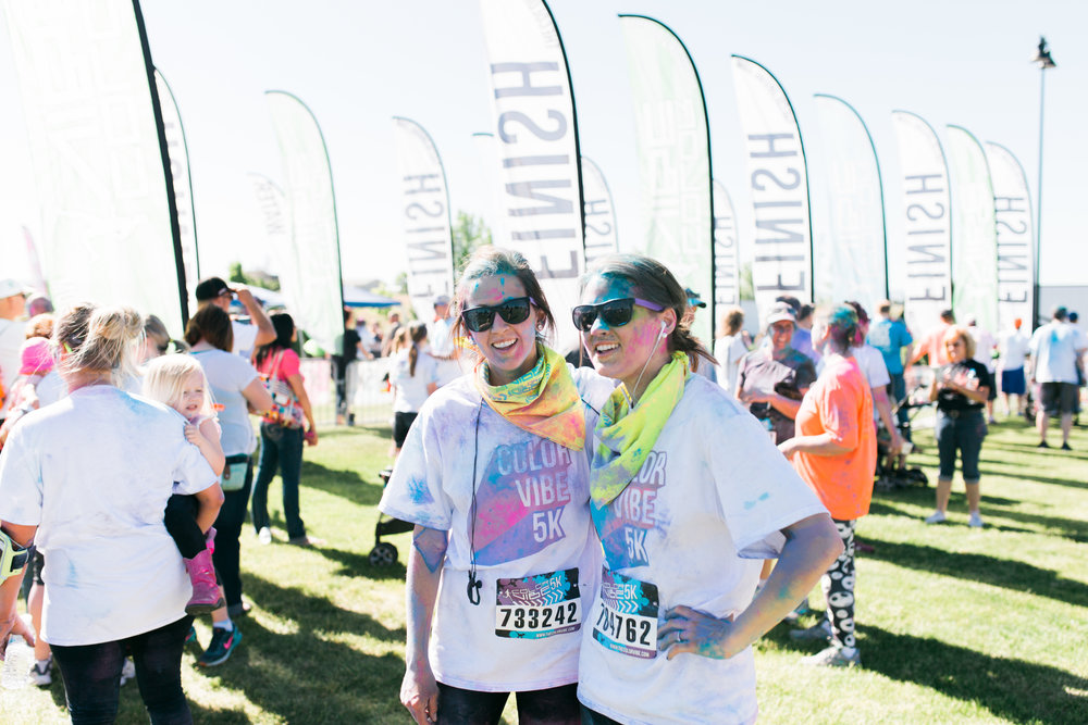 I love my sister. She pushed me to do this with her (she's ran a half marathon -- aka she's awesome) and we did it! My first run that I had to sign up for!