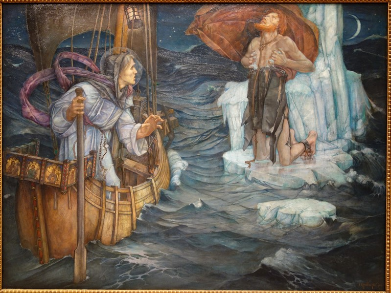 The_Voyage_of_St._Brandan_by_Edward_Reginald_Frampton,_1908,_oil_on_canvas_-_Chazen_Museum_of_Art_-_DSC02356.JPG