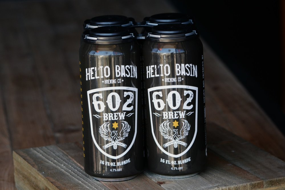 602 Brew - This beer is a nod to Central Phoenix and those who call it home. Phoenix is Rising and it's time to take pride in where you live! This light and clean beer is brewed to be able to quench your thirst on those hot summer days, or anytime you just need a refreshing and crisp beer to toast to home - cheers to you Phoenix!4.7% ABV 18 IBU