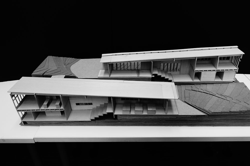 Physical Model and Section Cut of the Community Center