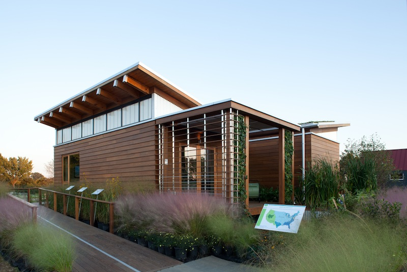 University of Maryland Solar Decathlon 2011 Watershed Home, 1st place competition winner. With several systems all working together, this small home achieves Net Zero Status and is able to supply excess energy back into the grid.