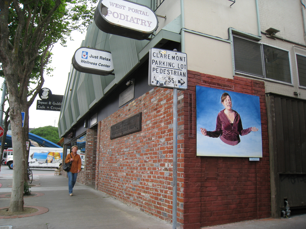 Installation in West Portal, San Francisco.