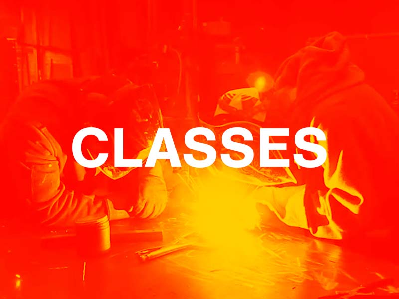 We teach classes in MIG, TIG, and SMAW (Stick) Welding. We also offer multi-week classes like our Fabrication 101: Table-making class!