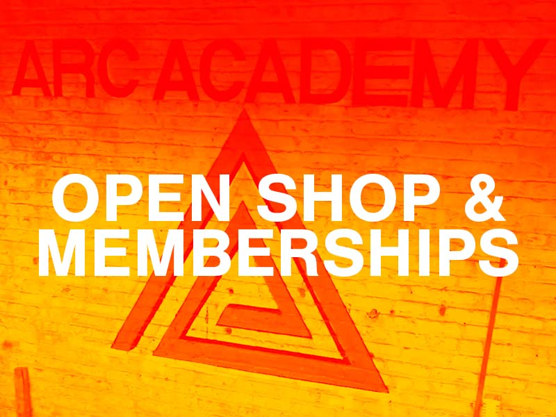 Sign up Open Shop time or a monthly membership at Arc Academy and utilize our shop and tools!