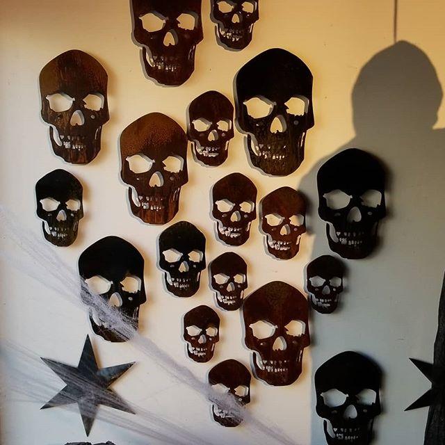 We got skulls for Halloween! #skulls #arcacademy #metalwork #millerwelds