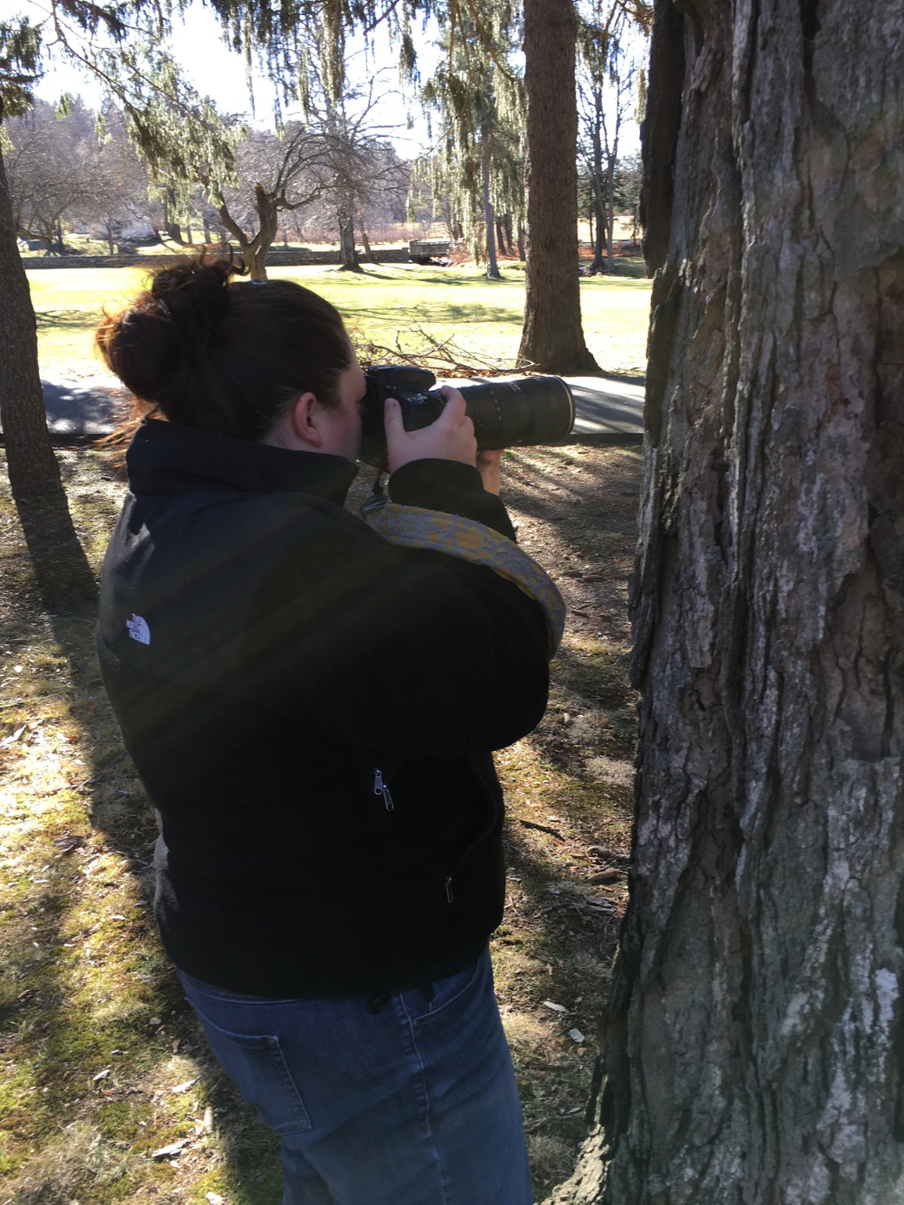 Photo courtesy of my amazing assistant/husband who is also pretty great at hiding behind trees.