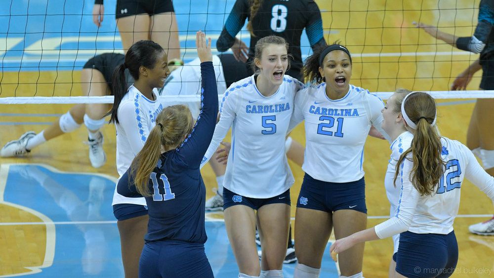 """Tar Heels Punch Ticket To Regionals With Four-Set Victory"""