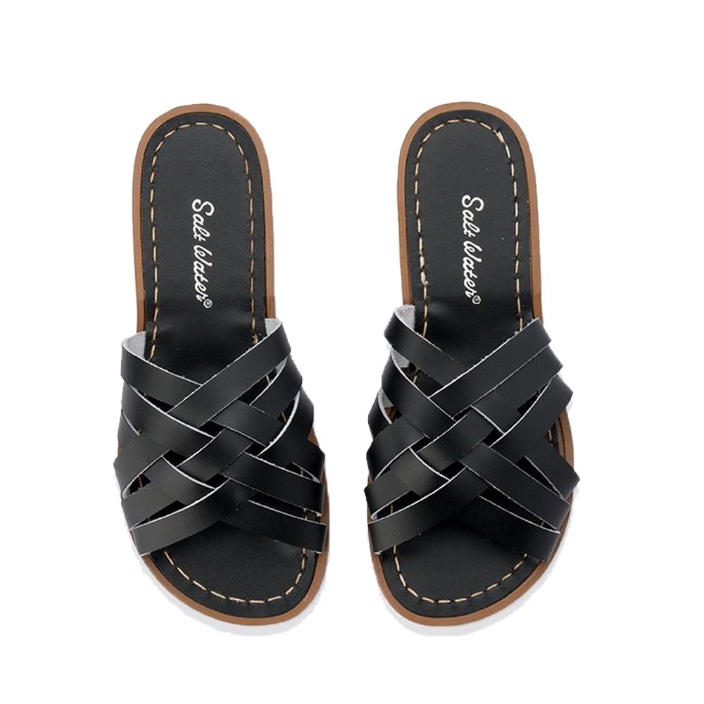6519563a5 Retro Saltwater Slides - Black — Scout