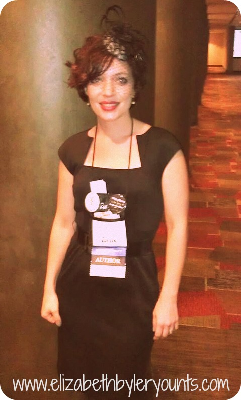 Me at the 2013 ACFW Conference...dressed up in 40s flair.