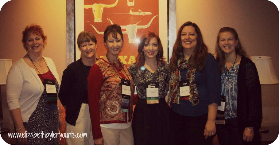 Myself and several other Amish Fiction Writers at the 2012 ACFW conference. (L to R) Amy Lillard, Suzanne Woods Fisher, Shelley Shepard Gray, Me, Tricia Goyer, & Amy Clipston. Such a great group of ladies.