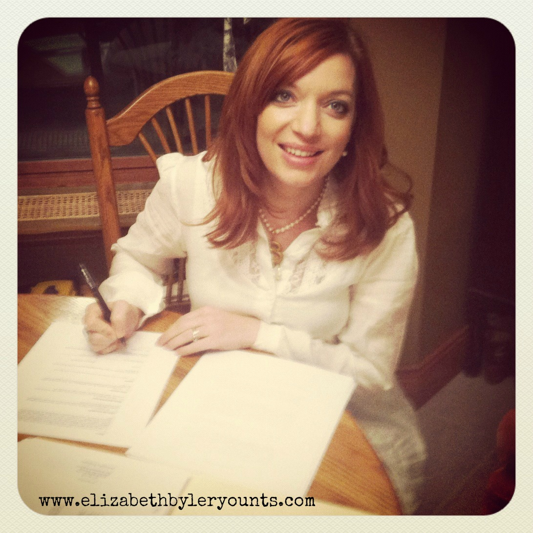 Signing my publication contract with Howard Books/Simon & Schuster!