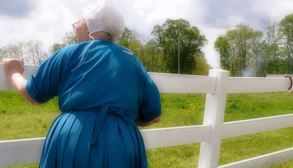 My Amish uncle allowed Mammie Lydia to pose with her back to the camera for the backcover of Seasons: A Real Story of an Amish girl, which was the story of her young life.