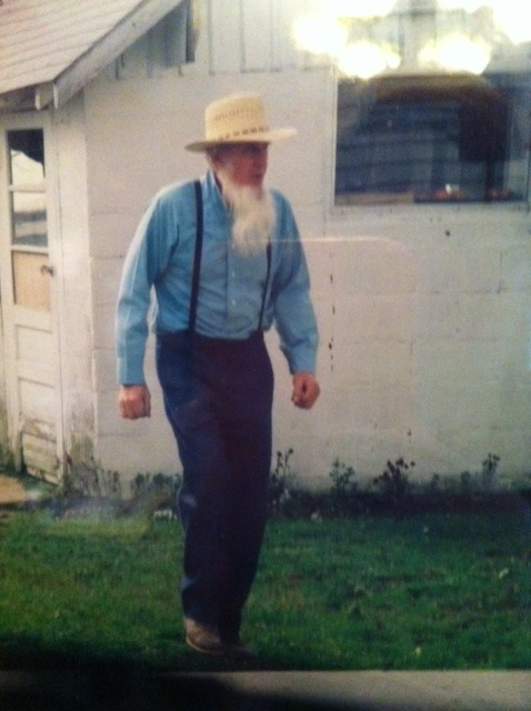 My Daudy Joe. He served the Amish church as a preacher for decades. A soft spoken gentle man. We miss him dearly.