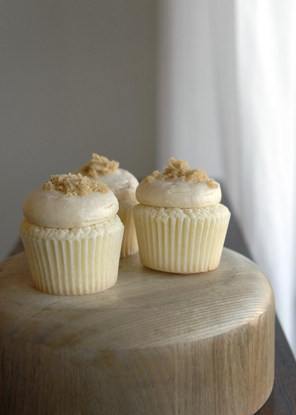 Brown Sugar Caramel Cupcake $2.75 each / $30 per dozen A fall favorite!  Cooked caramel frosting atop tender little cupcakes with just a pinch of brown sugar on top!  (Available September through January)