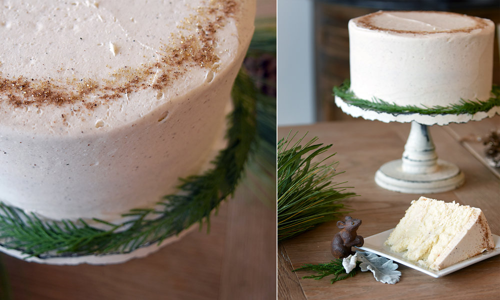 Christmas Cake   $35 half / $58 whole  An eggnog layer cake with custard filling and a nutmeg buttercream! A truly memorable cake for the holidays!    (Available during the month of December)