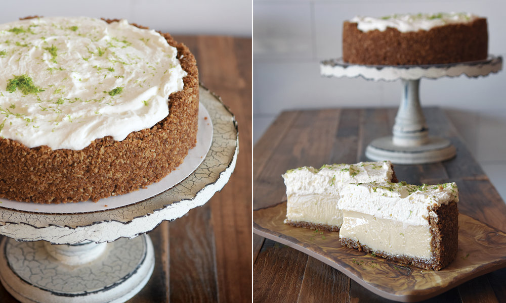 "Key Lime Pie!   60 whole  Now featuring our signature ""Aggression Cookie"" crust! Made the classic way with Nellie & Joe's Key Lime juice, local free-range eggs, and topped with fresh whipped cream from Homeland Creamery and a bit of organic lime zest!"