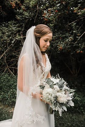 Josie's bouquet was full of lots of beautiful local and natural elements. Photo credit: Magnality photography