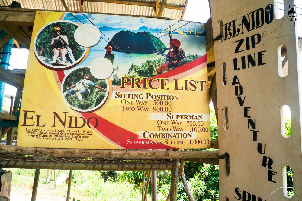 Zip Line Price List