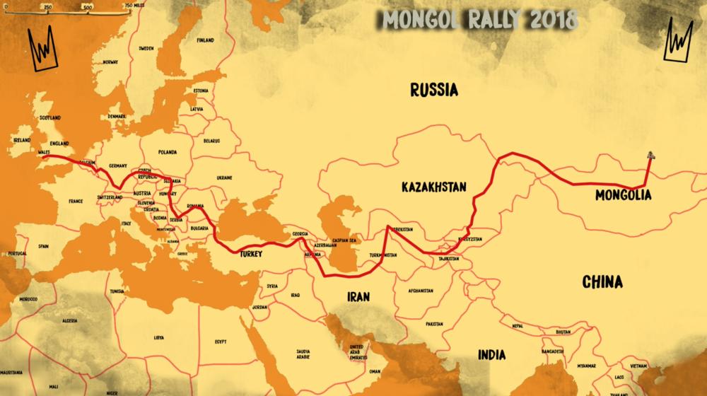 Mongol Rally Map 2018