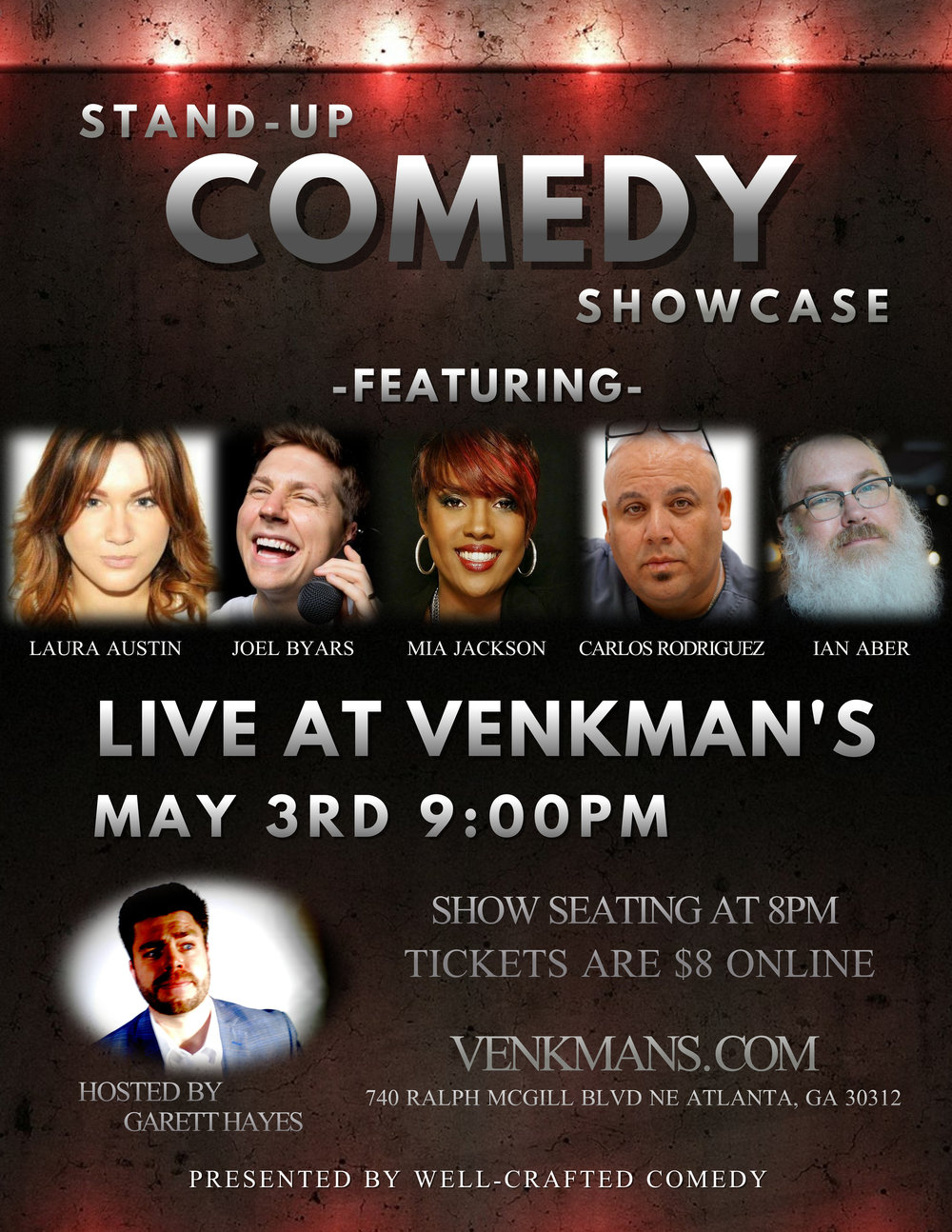 Well-Crafted Comedy at Venkman's on May 3rd, 2018