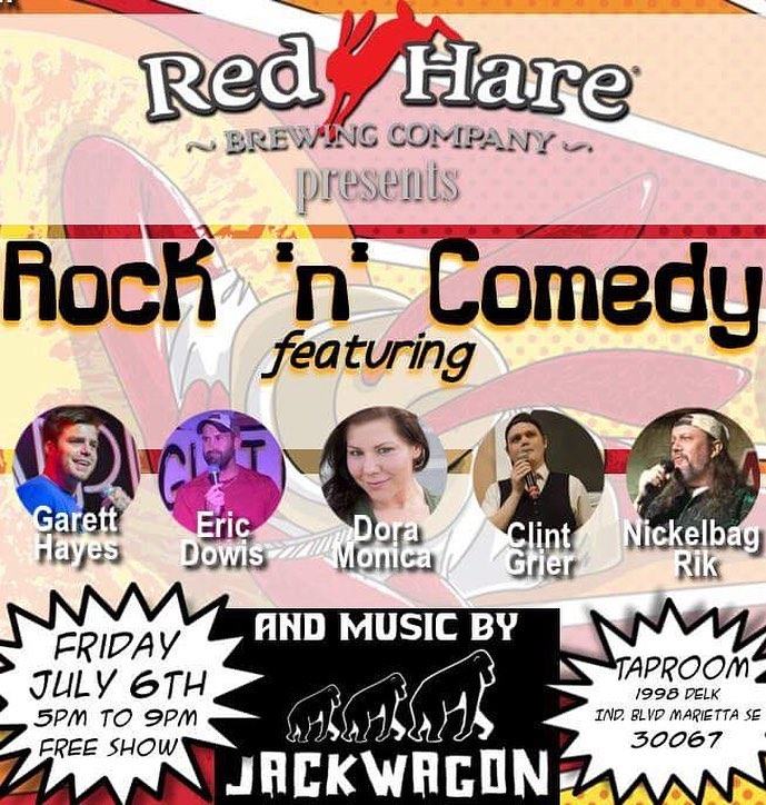 Comedian Garett Hayes at Red Hare Brewing