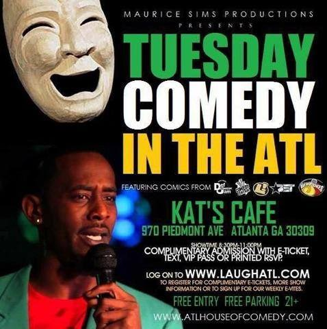 Atlanta Comedy, Kats Cafe Comedy Night