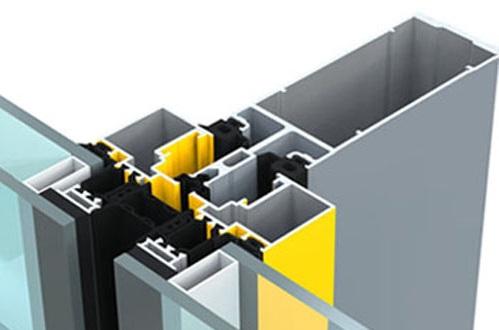 Semi Unitized Curtain Wall System