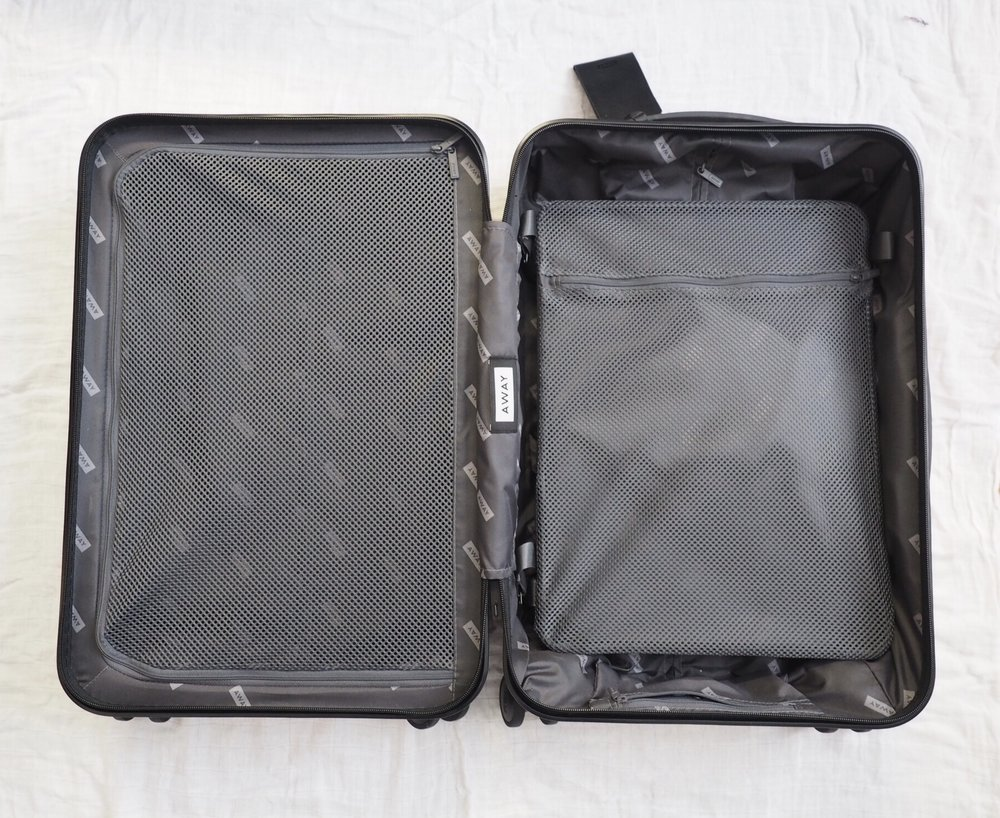 away bigger carry-on review — charmed traveler