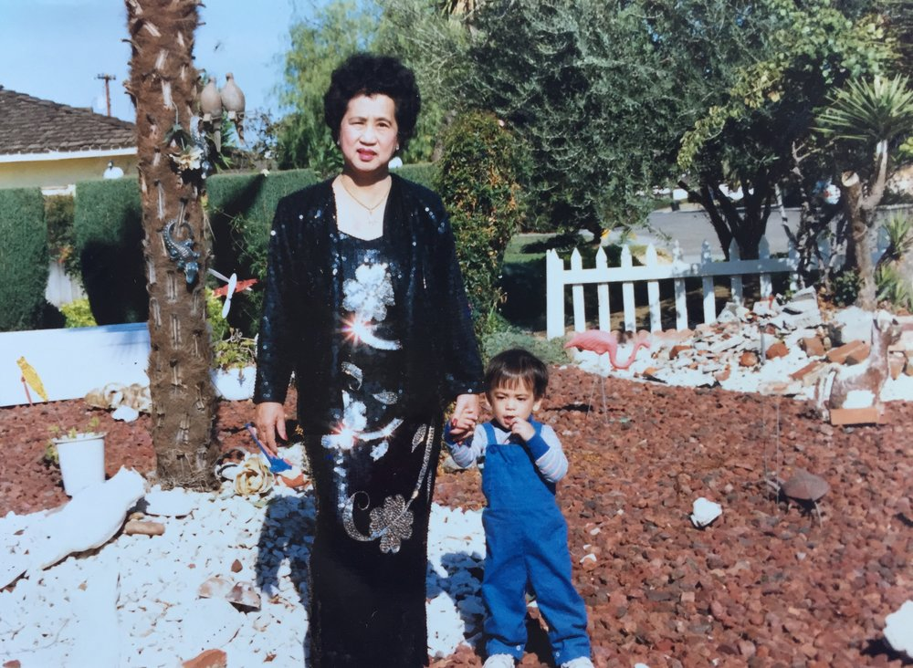 "My lola (Constance ""Grandma Honey"" Tacata) in her garden. Sanger, CA. n.d."