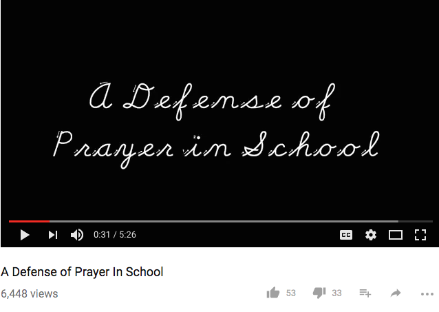 A Defense of Prayer in School