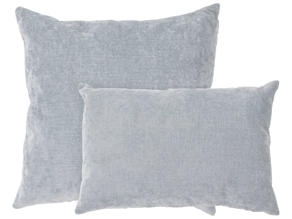 Luxe Rectangular Pillow - Jaipur Rugs pearl blue lumbar pillow, $83; Luxe Decor