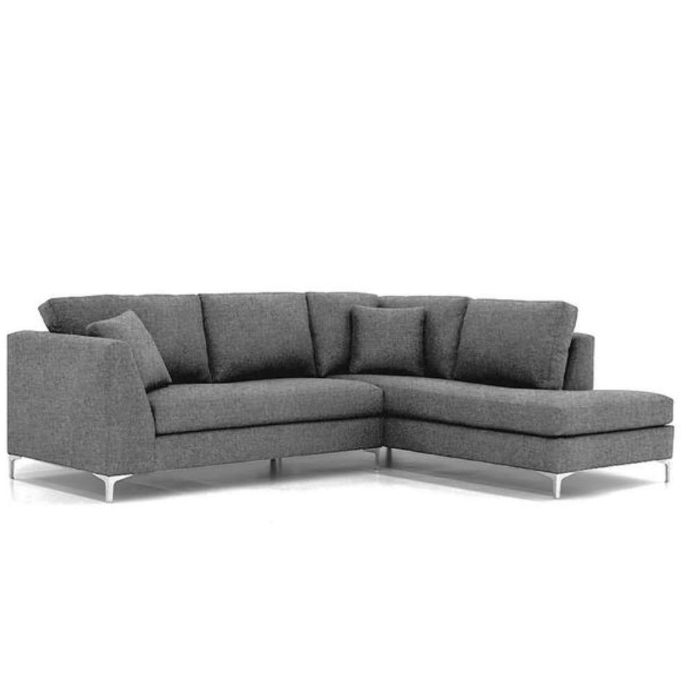 Smoke grey sofa sectional from Apt2B